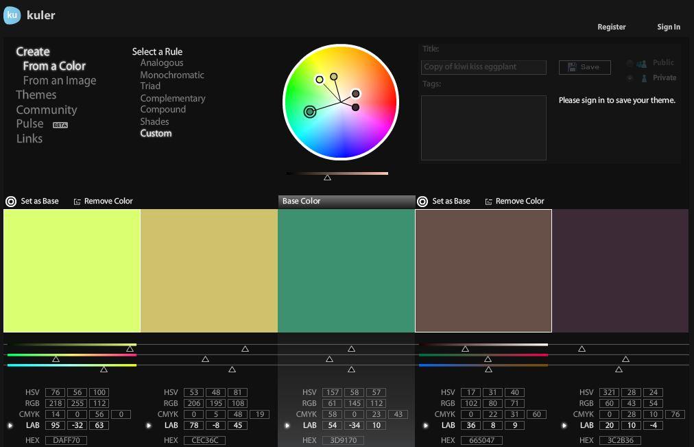 Kuler herramienta para combinar colores | Eclixxo.com